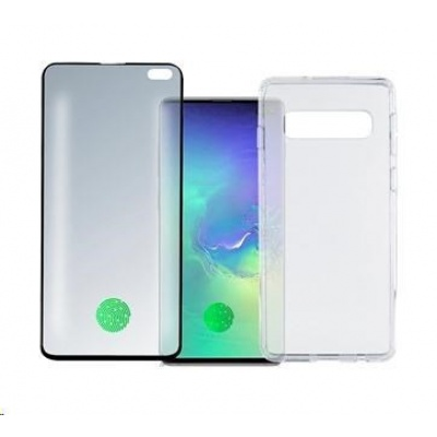 4smarts 360° Premium Protection set (tvrzené sklo UltraSonic a gelový zadní kryt) pro Samsung Galaxy S10+