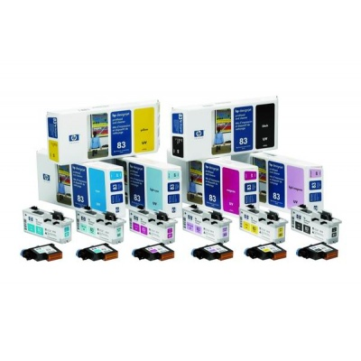 HP 83 Light Magenta UV Printhead + Printhead Cleaner, C4965A