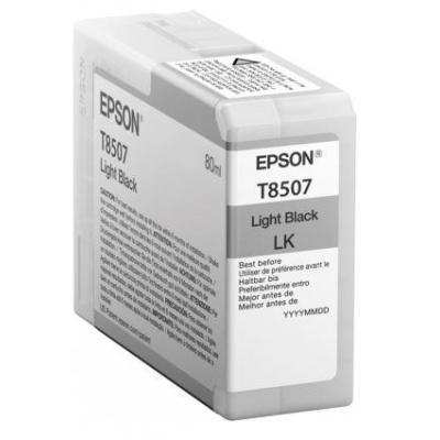 "EPSON ink čer ULTRACHROME HD ""Kosatka"" - Light Black - T850700 (80 ml)"