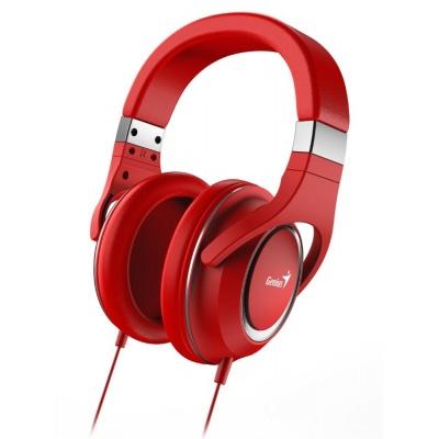 GENIUS sluchátka s mikrofonem HS-610, červená