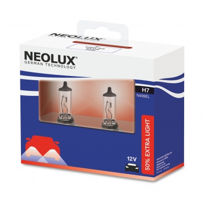 NEOLUX autožárovka H7 EXTRA LIGHT 12V 55W PX26d (Duo-Box)