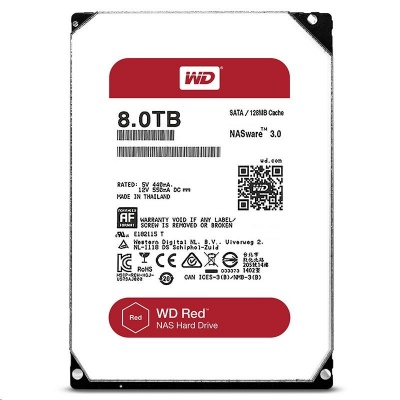 WD RED NAS WD80EFAX 8TB SATAIII/600 256MB cache, 210MB/s
