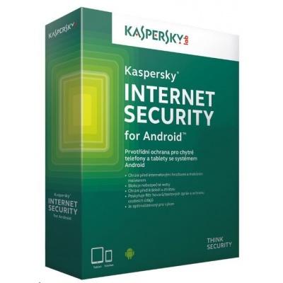 Kaspersky Internet Security 2019 ANDROID, 3 zařízení, 1 rok, obnovení licence, elektronicky