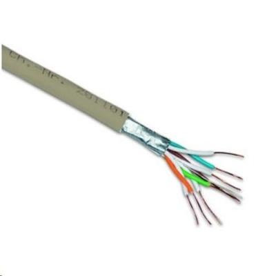 FTP kabel PlanetElite, Cat6, drát, LS0H, šedý, 305m, cívka