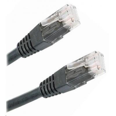 Patch kabel Cat6, UTP - 2m, černý