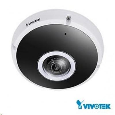 Vivotek FE9391-EV, 8 Mpix, 20sn/s, H.265, obj. 360°, DI/DO, audio, Mic in., MicroSDXC, EN50155, 3DNR, antivandal, IP66