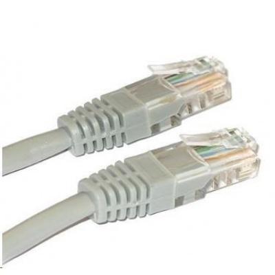 Patch kabel Cat6, UTP - 0,25m, šedý
