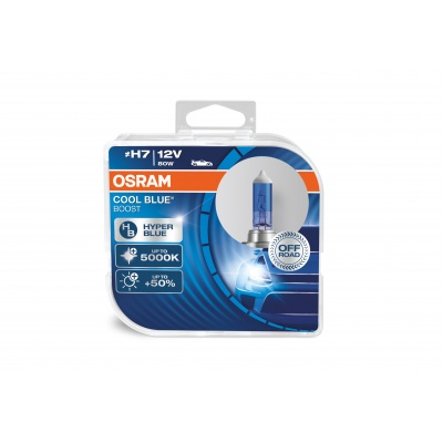 """OSRAM autožárovka """"H7"""" OFF ROAD COOL BLUE BOOST 12V 80W PX26d (Duo-Box)"""