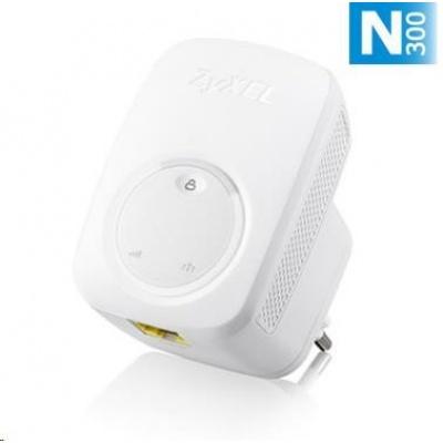 Zyxel WRE2206 Wireless N300 Range Extender, 1x 10/100 RJ45, repeater přímo do zásuvky