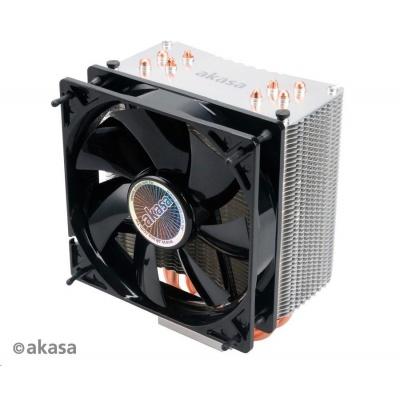 AKASA chladič CPU NERO 3 pro patice LGA 775,115x, 1366, 2011, Socket AMx, FMx, měděné jádro, 120mm PWM ventilátor