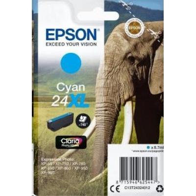 "EPSON ink bar Singlepack ""Slon"" Cyan 24XL Claria Photo HD Ink"