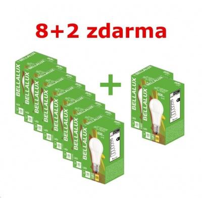 Bellalux ECO CL A 8,5W FR 60 827 non-dimE27 806lm 2700K (Karton 8 ks + 2 ks zdarma)