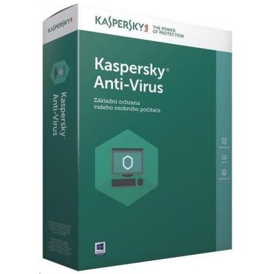 Kaspersky Anti-Virus 2019 CZ, 4PC, 2 roky, nová licence, elektronicky