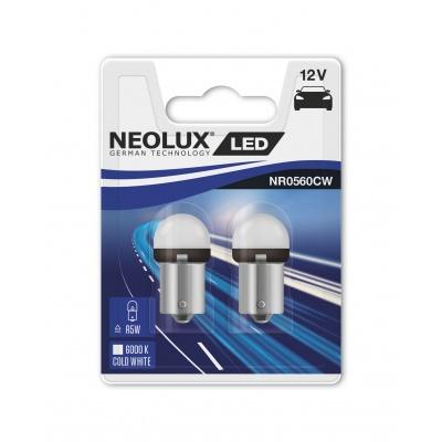 """NEOLUX autožárovka """"R5W"""" RETROFIT 12V 0,8W BA15s 6000K studená bílá (Blistr 2ks)"""