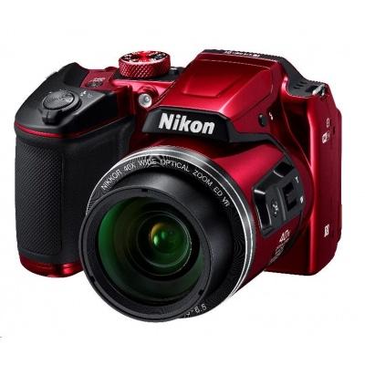 Nikon kompakt Coolpix B500, 16MPix, 40x zoom - červený