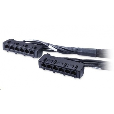 APC Data Distribution Cable, CAT6 UTP CMR 6xRJ-45 Black, 17ft (4.5M)