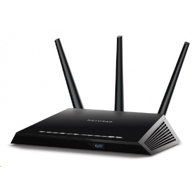 Netgear R7000P Wireless AC2300 Nighthawk Smart WiFi Router with MU-MIMO, 4x gigabit port, 1xUSB3.0, 1xUSB2.0