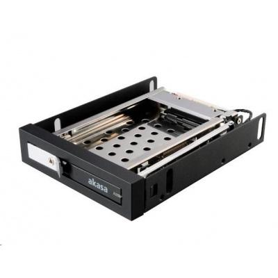 """AKASA HDD box Lokstor M25, 1x 2.5"""" HDD rack do 3.5"""", interní pozice, černá"""