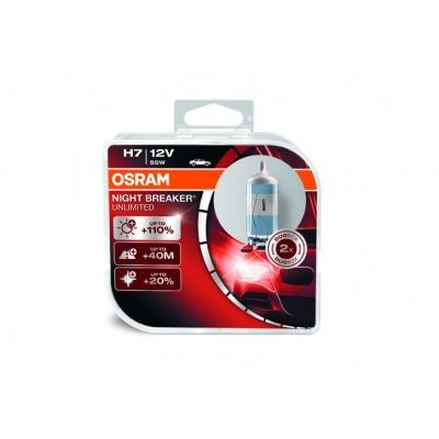 OSRAM autožárovka H7 NIGHT BREAKER® UNLIMITED 12V 55W PX26d (Duo-Box)