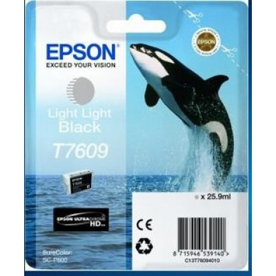 "EPSON ink čer ULTRACHROME HD ""Kosatka"" - Light Light Black - T7609 (25,9 ml)"