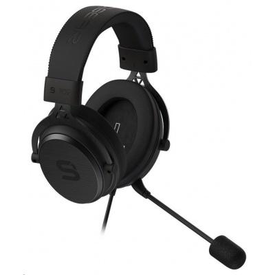 SILENTIUM PC sluchátka Gear Viro Gaming Headset, herní, náhlavní, drátový, 53mm měniče, mikrofon, 3,5mm jack, černá