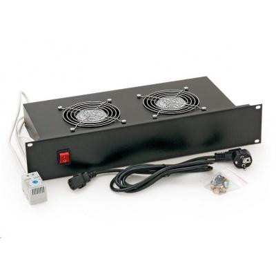 "TRITON 19"" ventilační jednotka, 2 ventilátory-230V/70W, termostat, šedá"