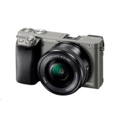 SONY Alfa6000 fotoaparát, 24.3MPix + 16-50mm - šedý