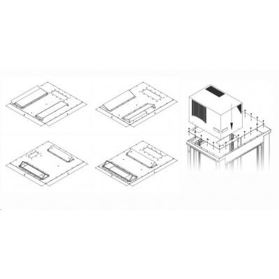 TRITON montážní redukce ke klimatizaci X1 a X2 na šířku rozvaděče 600 x 800 mm, černá