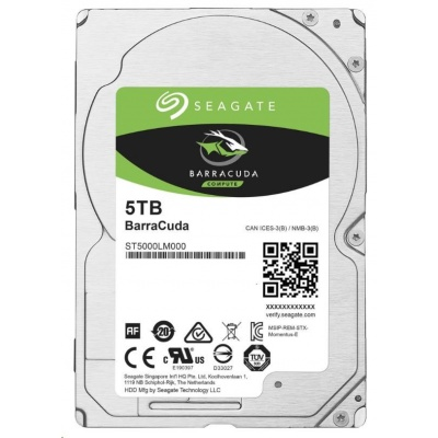 "SEAGATE HDD BARRACUDA 2.5"" 5TB, SATAIII/600 5400RPM, 128MB cache, 15mm"
