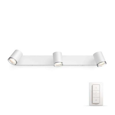 PHILIPS Adore Bodové svítidlo do koupelny, Hue White ambiance, 230V, 3x5.5W GU10, Bílá