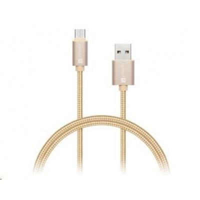 CONNECT IT Wirez Premium Metallic USB C - USB, rose gold, 1 m