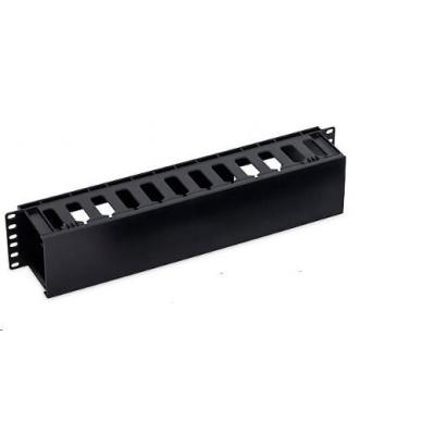 """TRITON 19"""" vyvazovací panel 2U plastový, černá"""