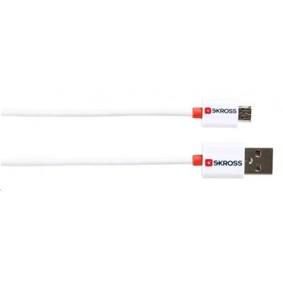 SKROSS USB kabel Charge'n Sync , délka 1m, micro USB konektor, pro nabíjení a přenos dat