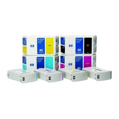 HP 80 Black DJ Ink Cart, 350 ml, C4871A