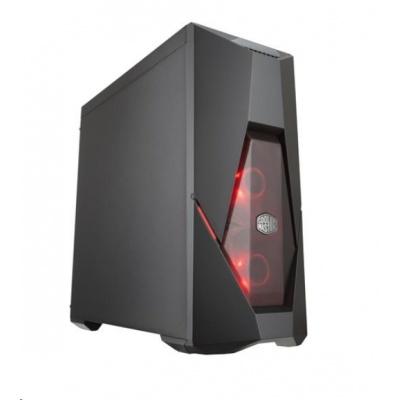 Cooler Master case MasterBox K500L, ATX, 2x červené LED ventilátory, 2x USB3.0, bez zdroje