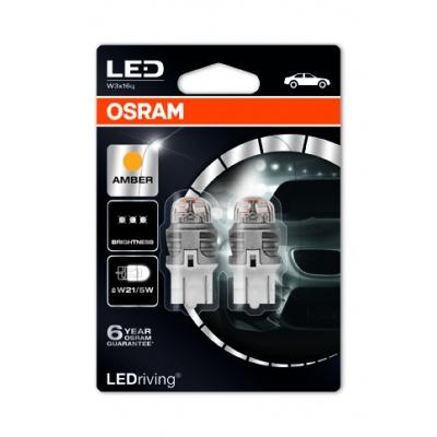 "OSRAM autožárovka ""W21/5W"" LEDriving® Premium 12V W3x16d oranžová (Blistr 2ks)"