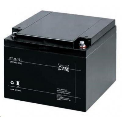 Baterie - CTM CT 12-24 (12V/24Ah - M5), životnost 5let