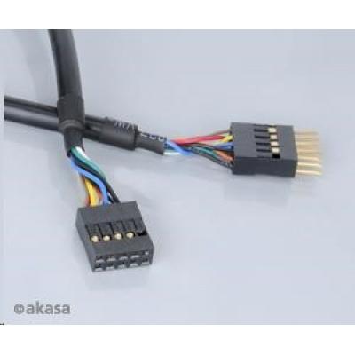 AKASA kabel prodloužení interního USB portu, 40cm