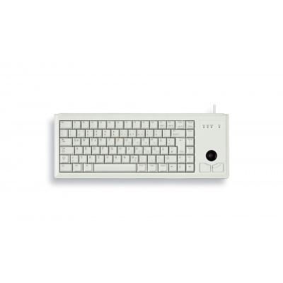 CHERRY klávesnice G84-4400, trackball, ultralehká, USB, EU, šedá
