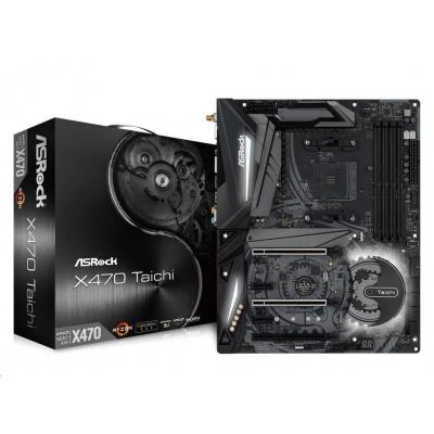ASRock MB Sc AM4 X470 TAICHI, AMD X470, 4xDDR4, VGA, Wi-Fi