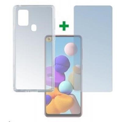 4smarts 360° Protection set (tvrzené sklo a gelový zadní kryt) pro Samsung Galaxy A21s