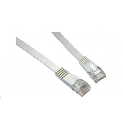 Solarix Patch kabel plochý CAT6 UTP LSOH 5m šedý non-snag-proof C6-111GY-5MB