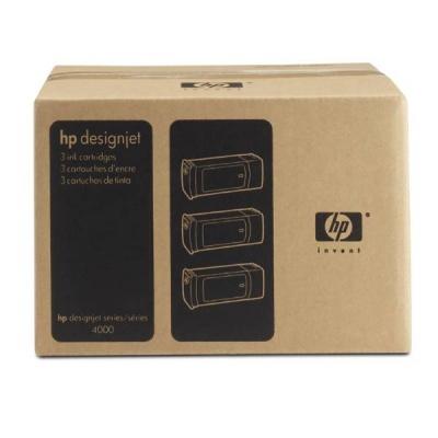 HP 90 Yellow DJ Ink Cart, 400 ml, 3-pack, C5085A