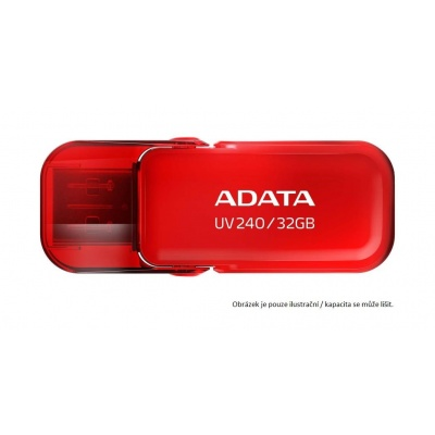 ADATA Flash Disk 16GB UV240, USB 2.0 Dash Drive, červená