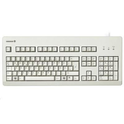 CHERRY klávesnice G80-3000 BLACK SWITCH, USB, EU, šedá