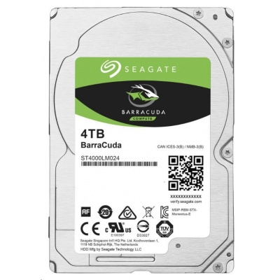 "SEAGATE HDD BARRACUDA 2.5"" 4TB, SATAIII/600 5400RPM, 128MB cache, 15mm"