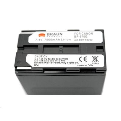 Braun akumulátor CANON BP-950, BP-970, 7500mAh