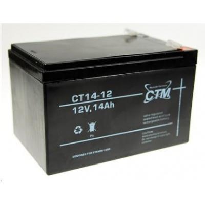 Baterie - CTM CT 12-14 (12V/14Ah - Faston 250), životnost 5let