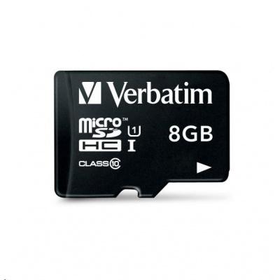 VERBATIM Premium U1 Micro SecureDigital SDHC/SDXC 8GB  + SD Adaptér