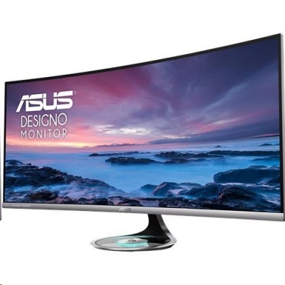 """ASUS LCD 37.5"""" MX38VC 3840x1600 Designo Curved  UWQHD+  IPS  Harman Kardon w.speakers Qi wireless charging LowBL REPRO"""